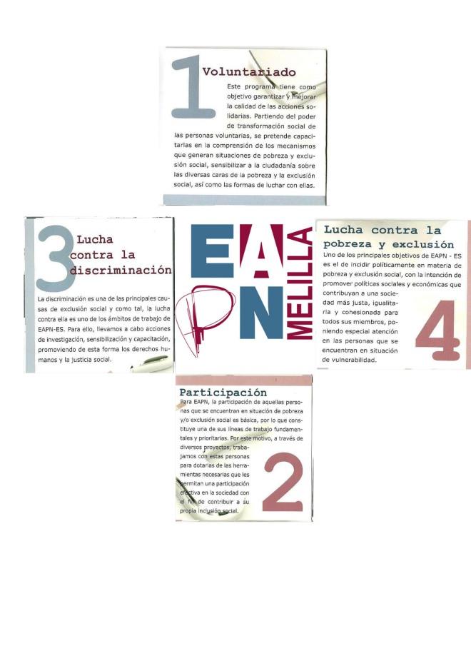 Los cuatro ejes de acción de EAPN