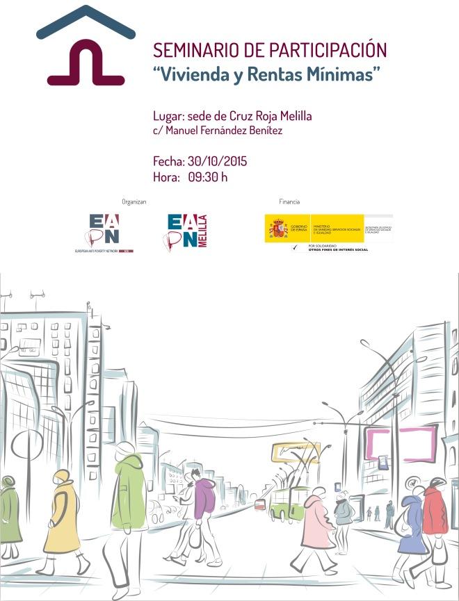cartel seminario vivienda y rentas mínimas